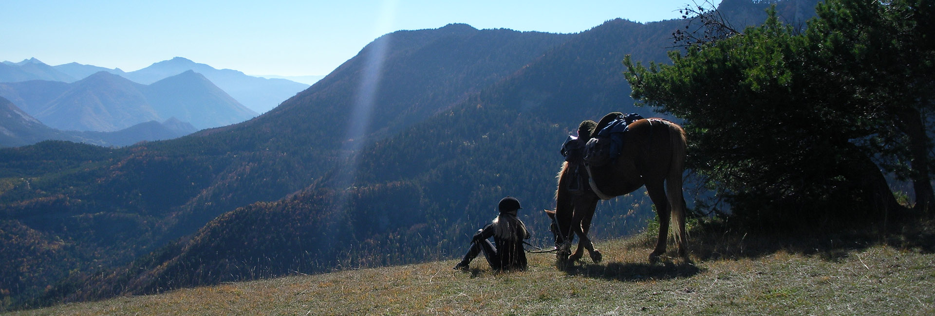 dévoluy à cheval